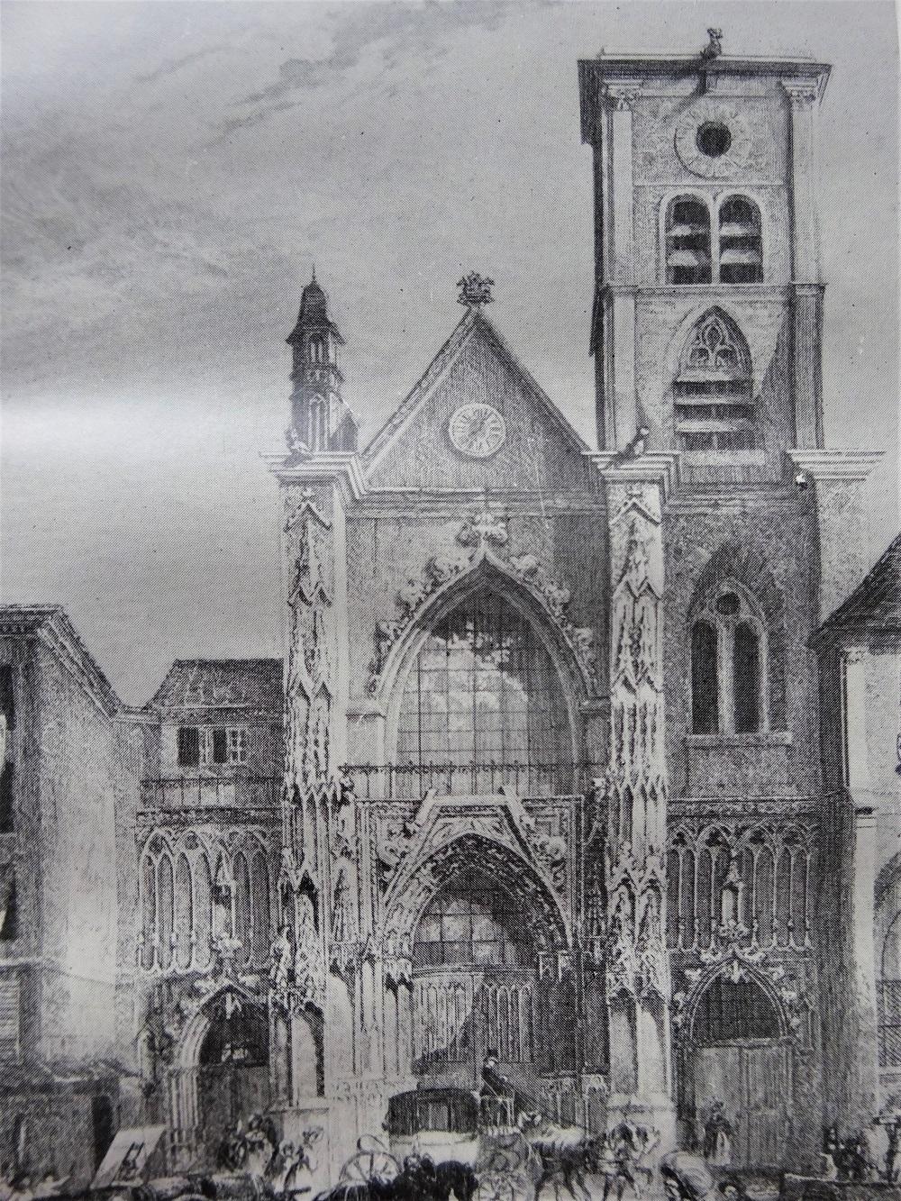 Eglise Saint Merry de Paris. Histoire de la paroisse et de la collégiale. 700-910.