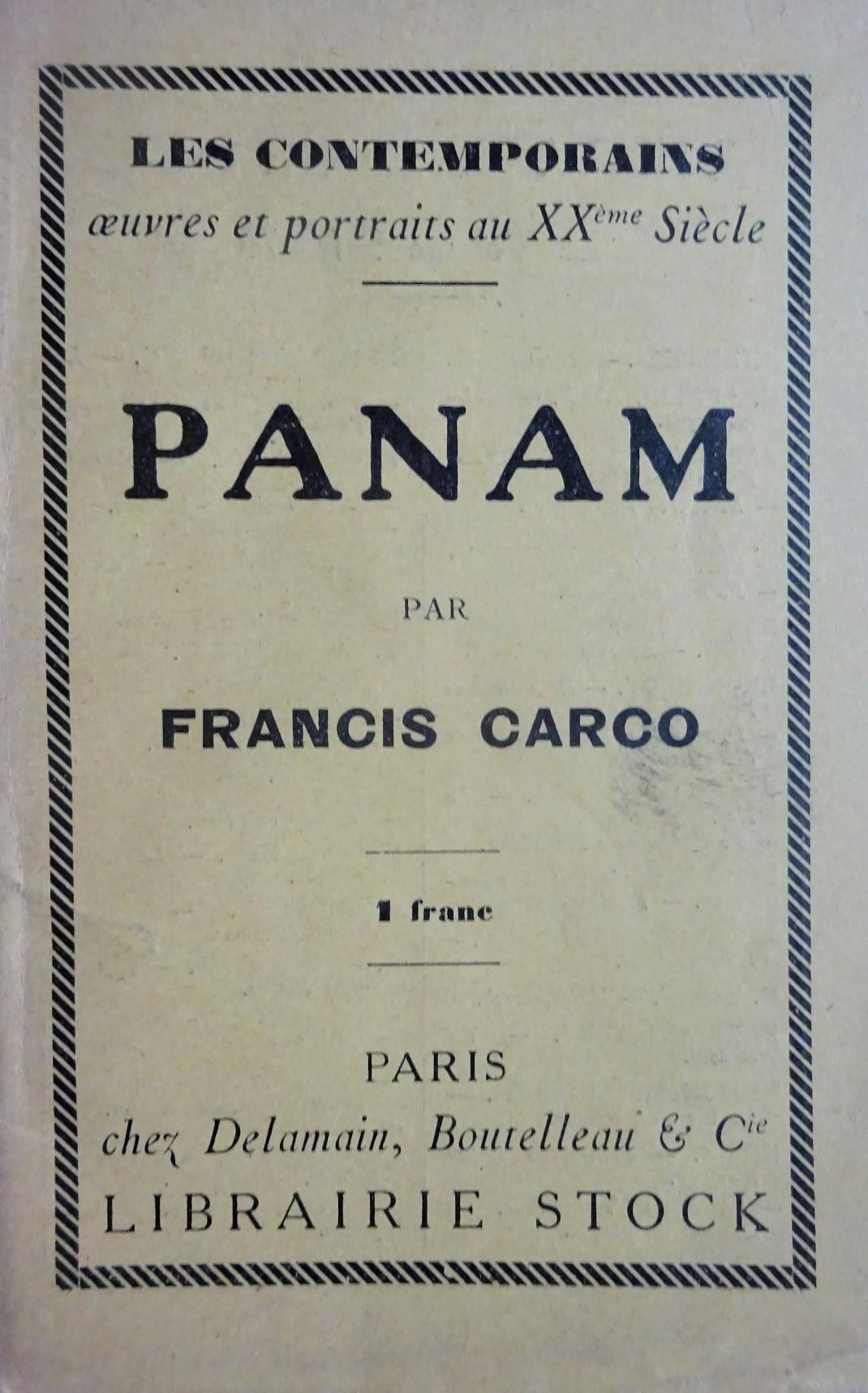 Panam. Edition originale