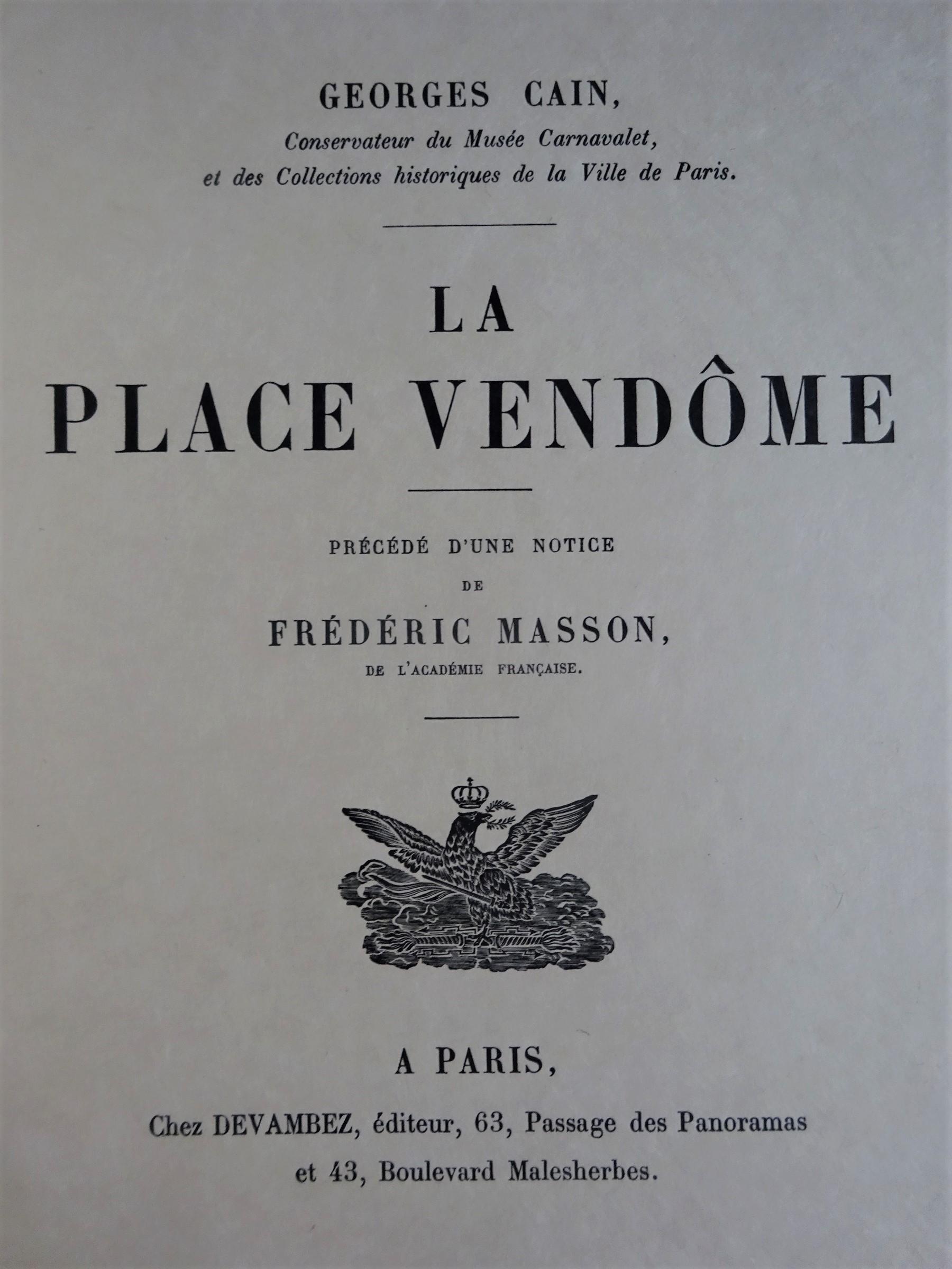 Place Vendôme. Exemplaire sur japon
