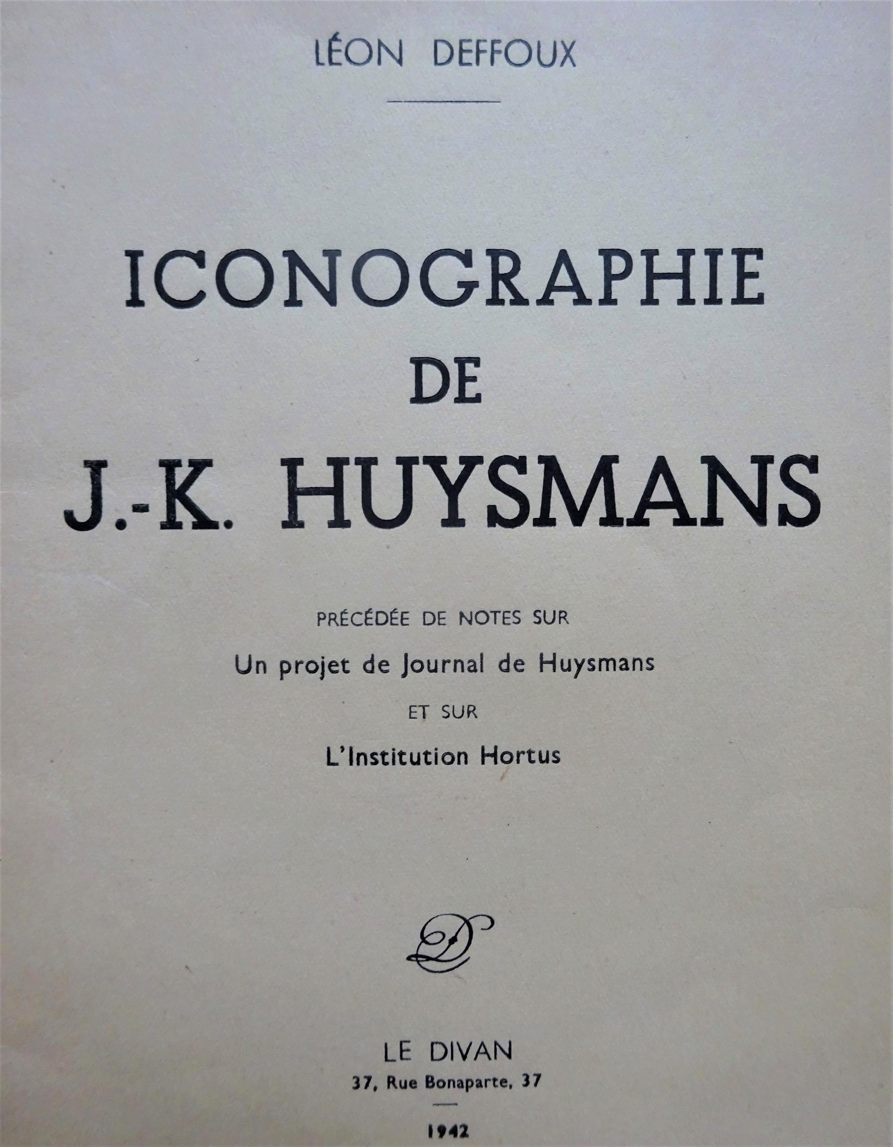 Iconographie de J.-K.Huysmans