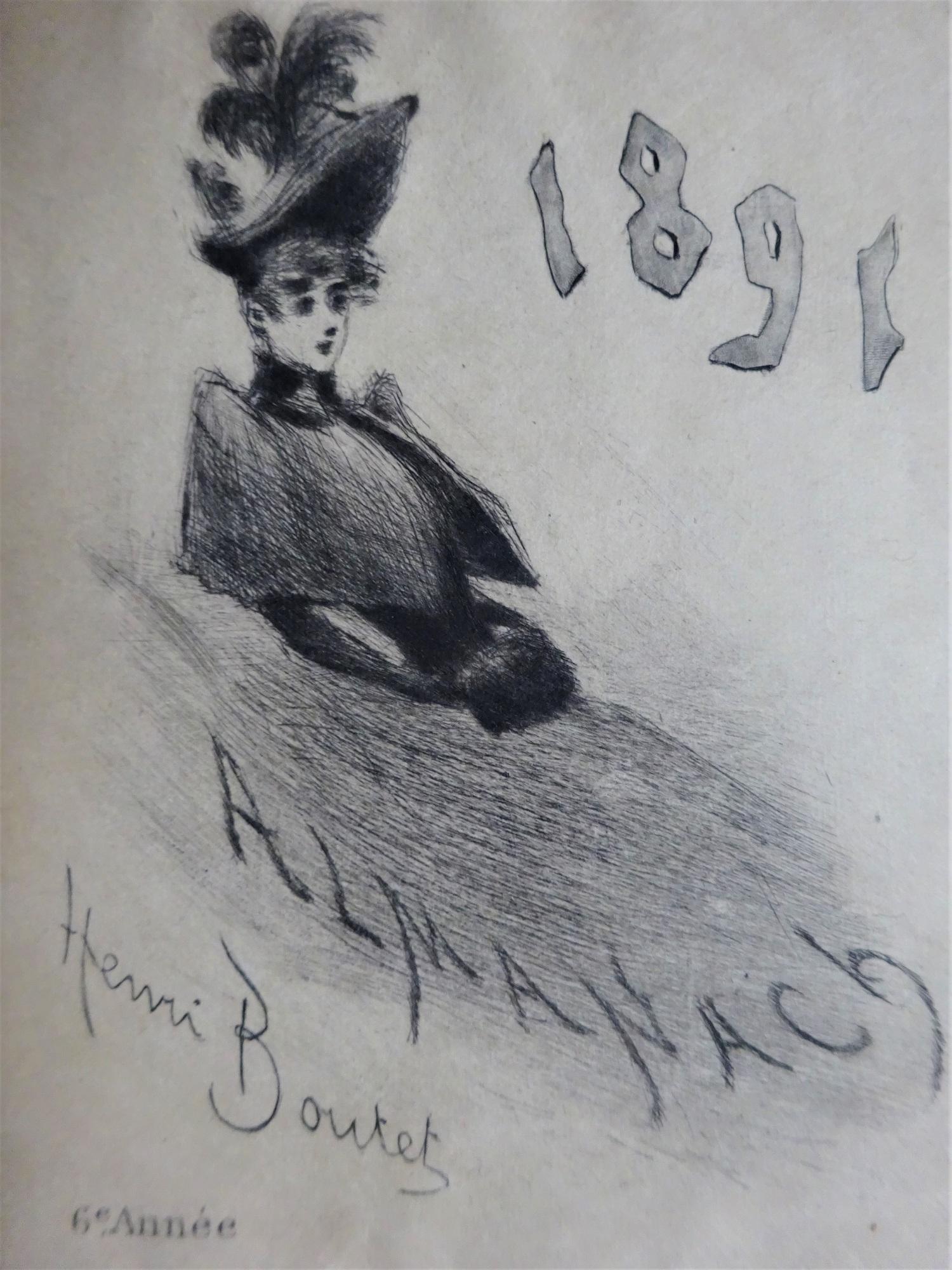 Almanach pour 1891 sous étui