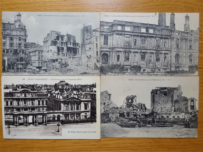 Commune de Paris. Destructions et incendies.