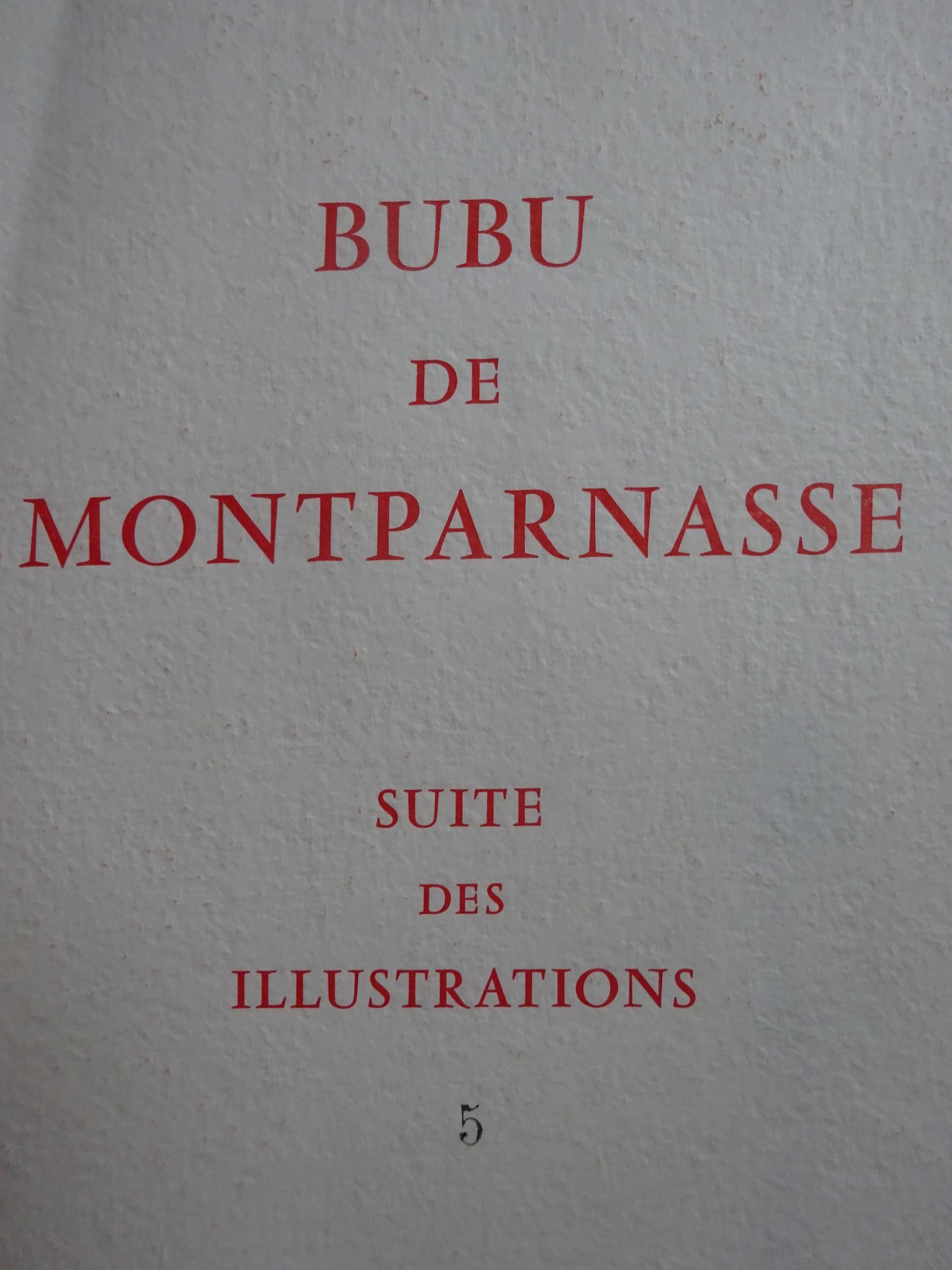 Bubu de Montparnasse 1958