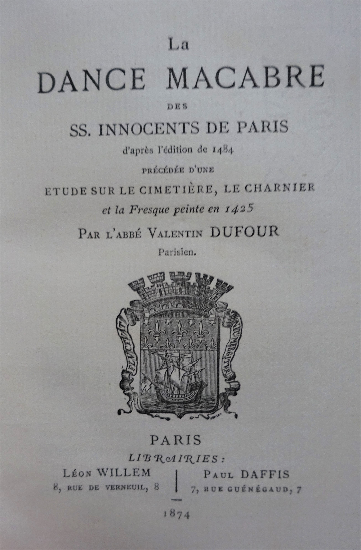 La dance macabre des SS.Innocents de Paris