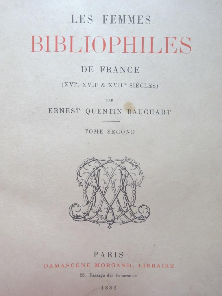 Les femmes bibliophiles de France