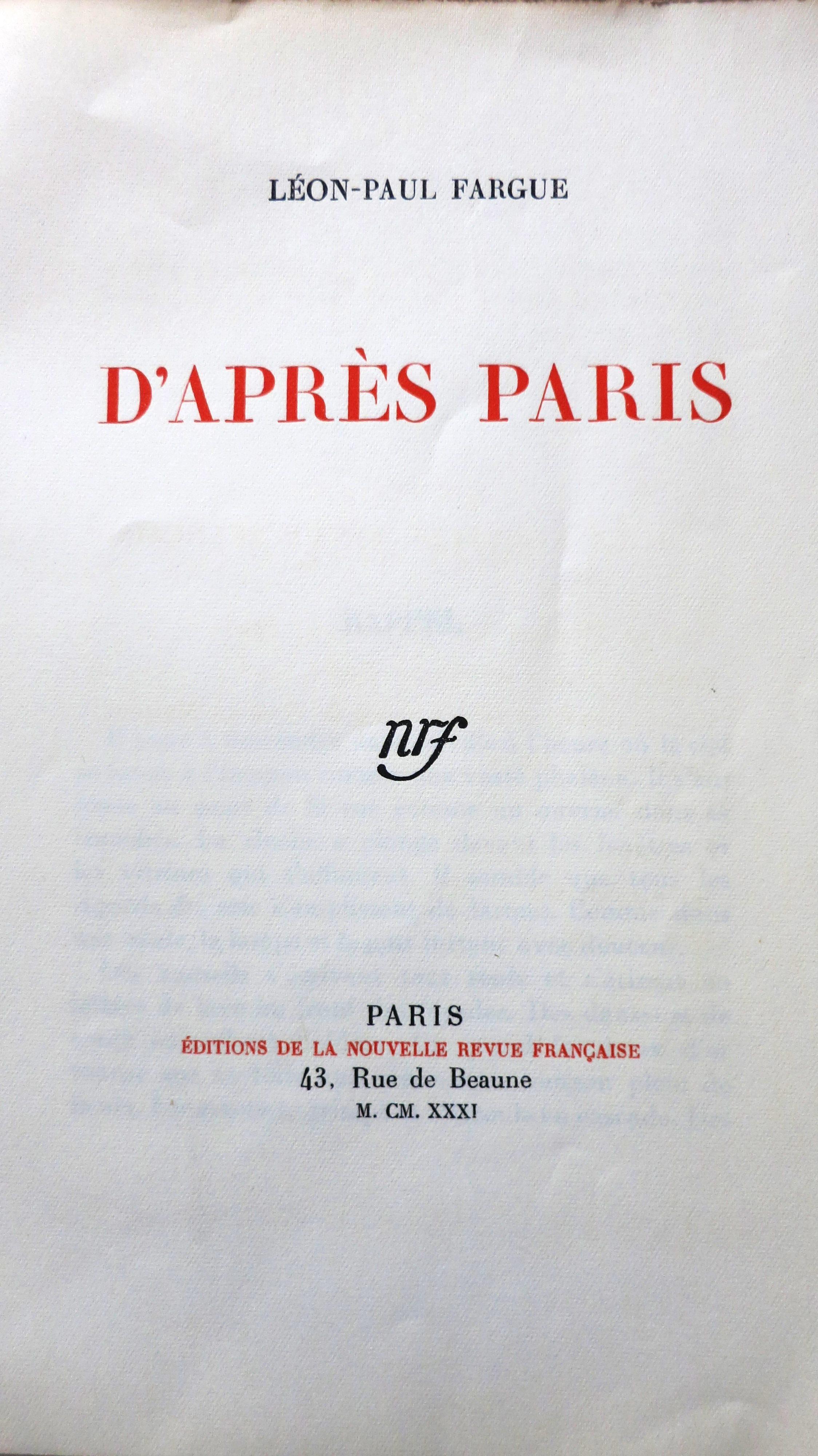 D'après Paris
