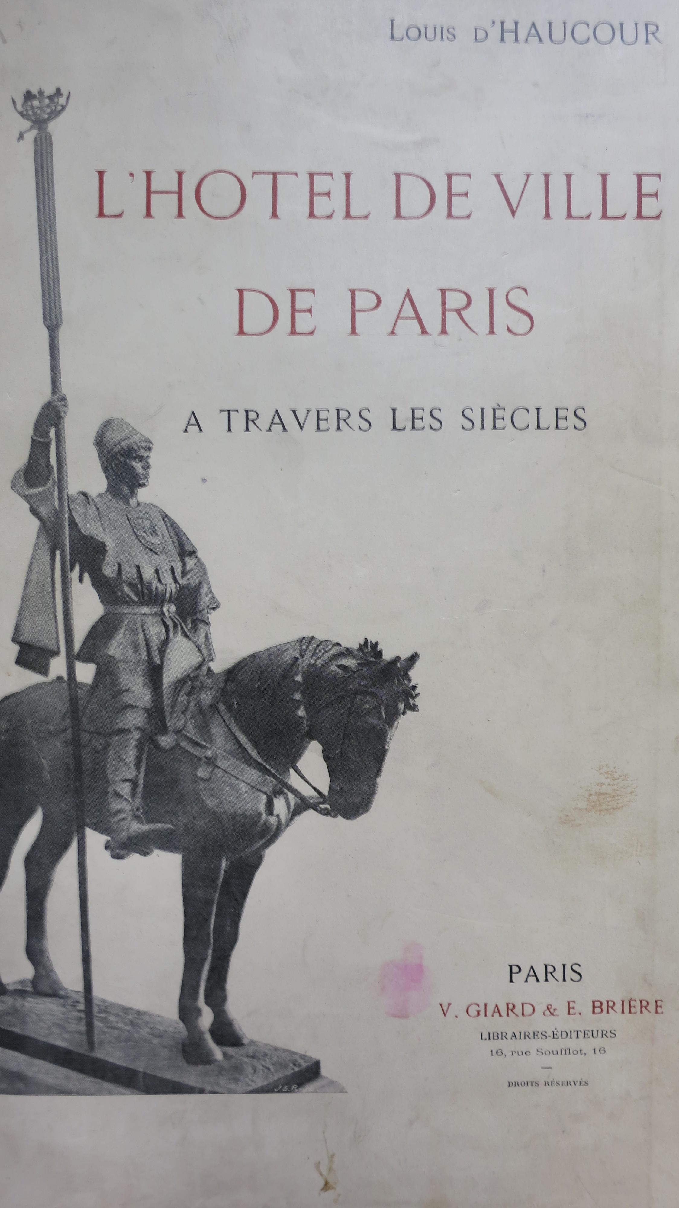 L'Hôtel de Ville de Paris à travers les âges