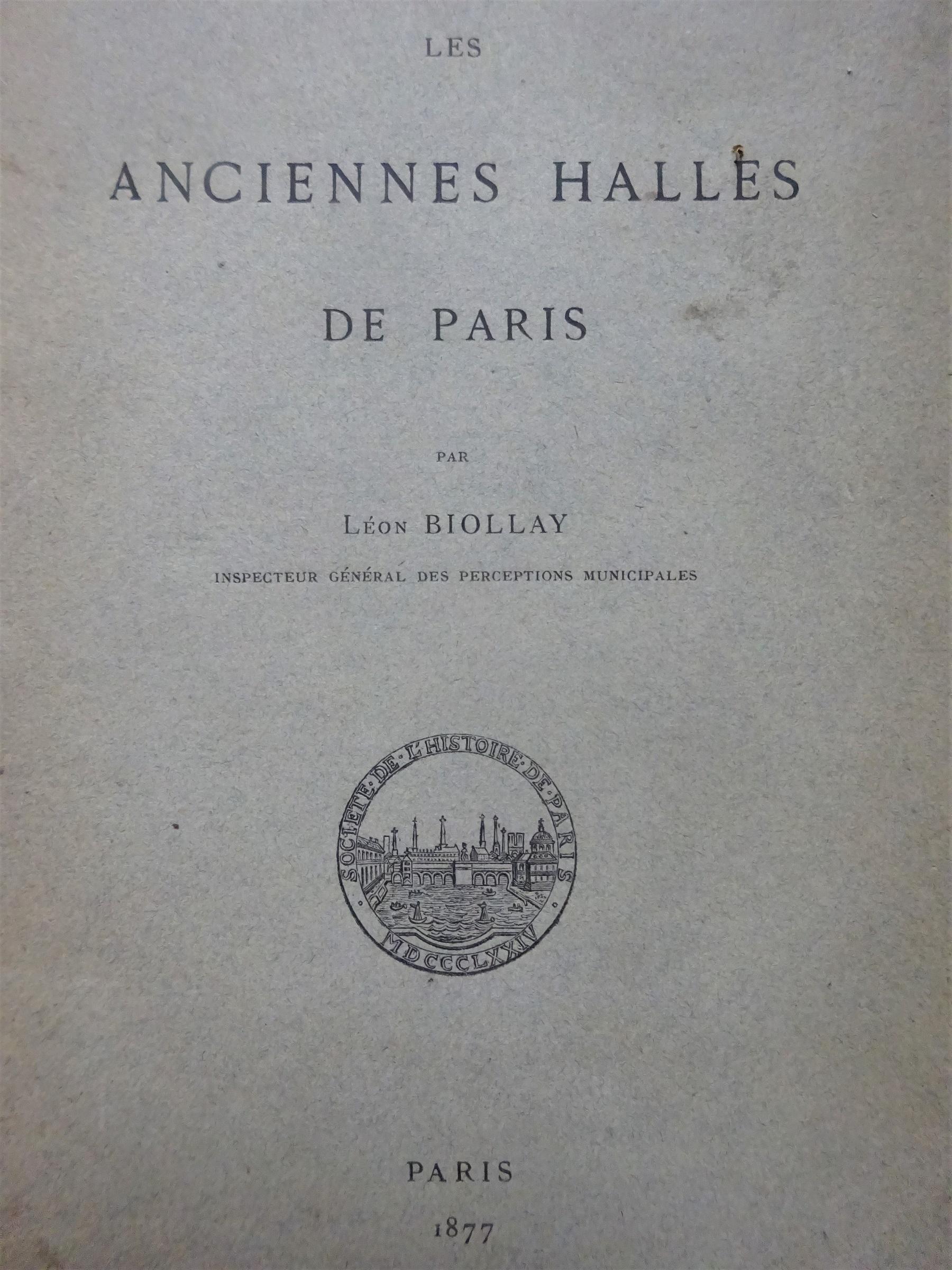 Les anciennes Halles de Paris