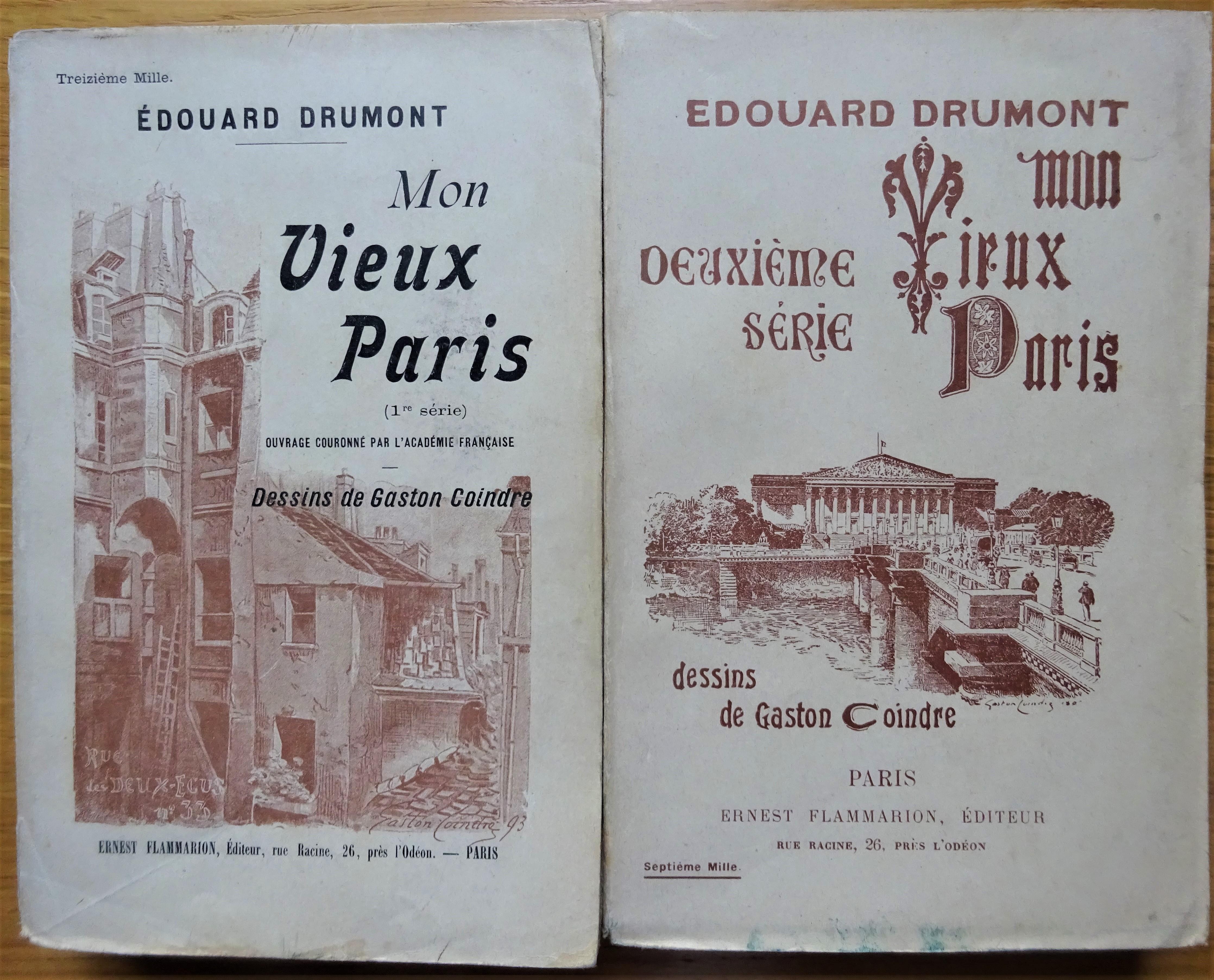 Mon vieux Paris. 1ère et 2e série