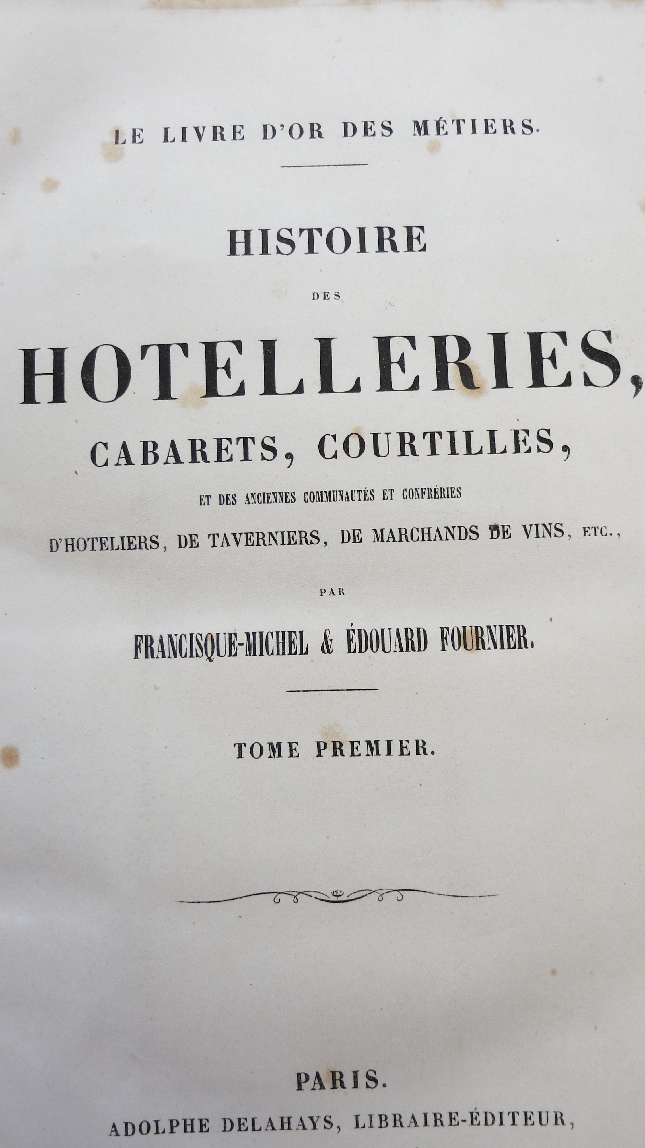 Histoire des hôtelleries cabarets courtilles