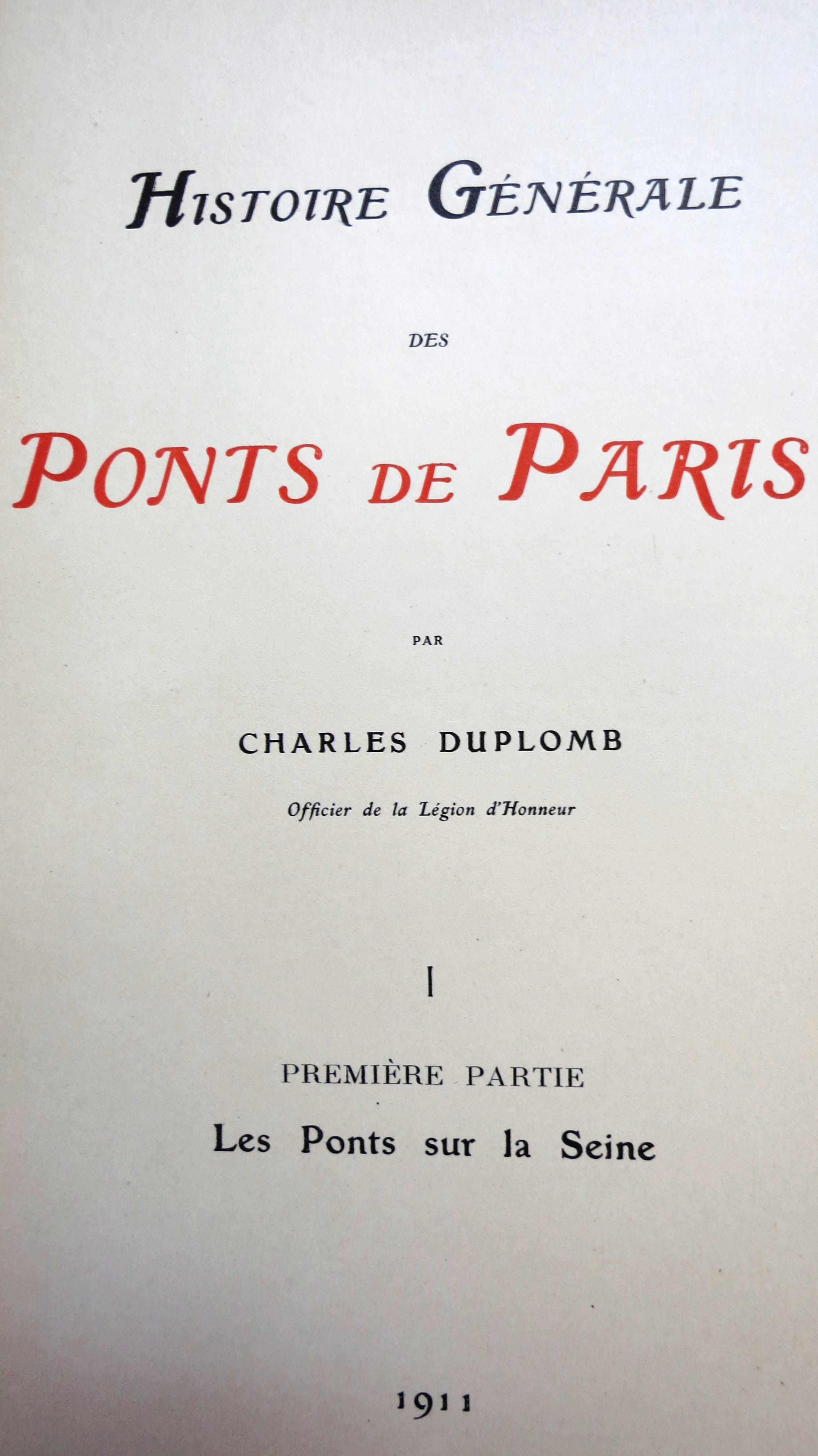 Histoire générale des Ponts de Paris