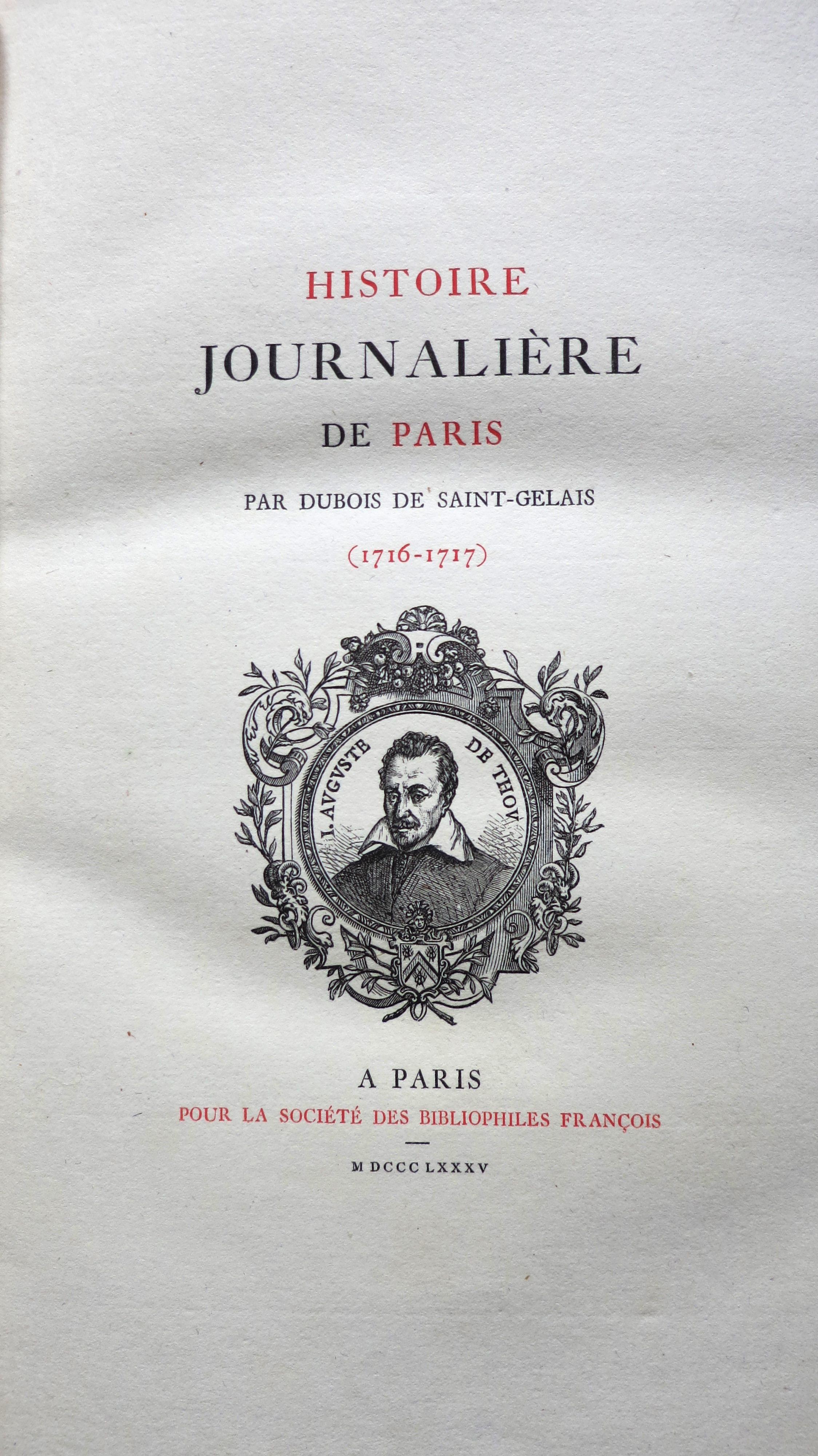 Histoire journalière de Paris