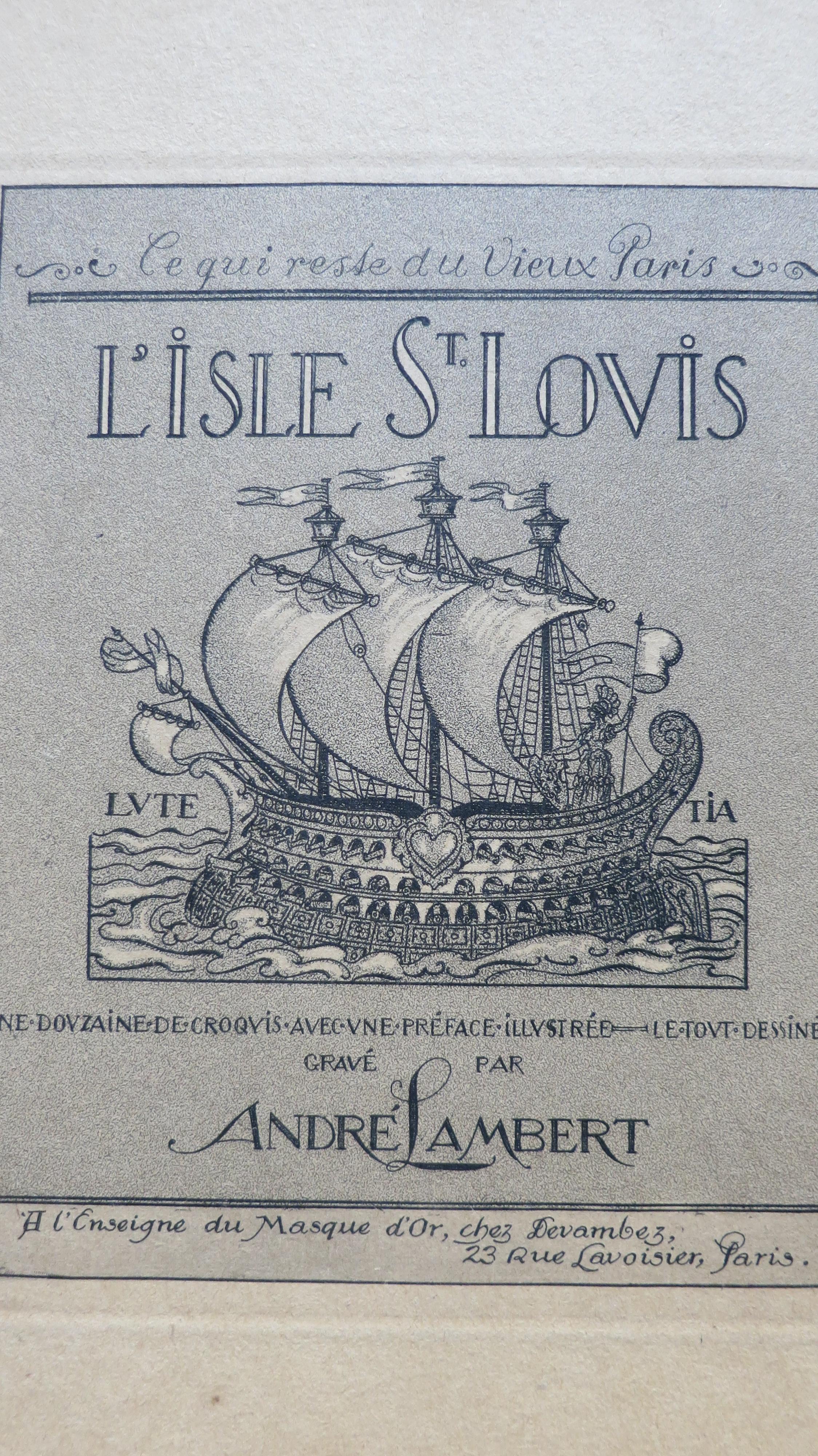 Ce qui reste du vieux Paris L'Isle Saint Louis
