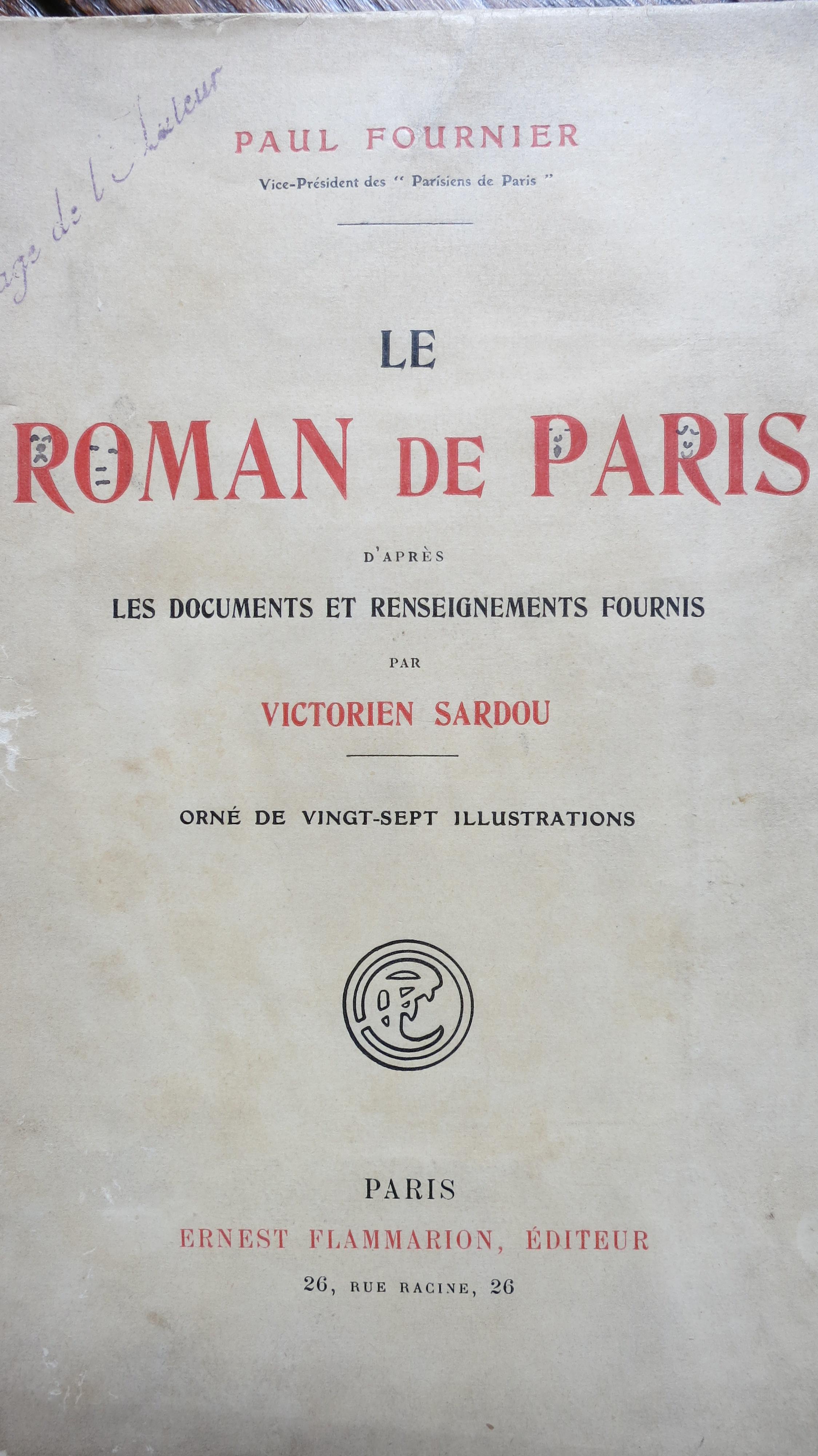 Le roman de Paris