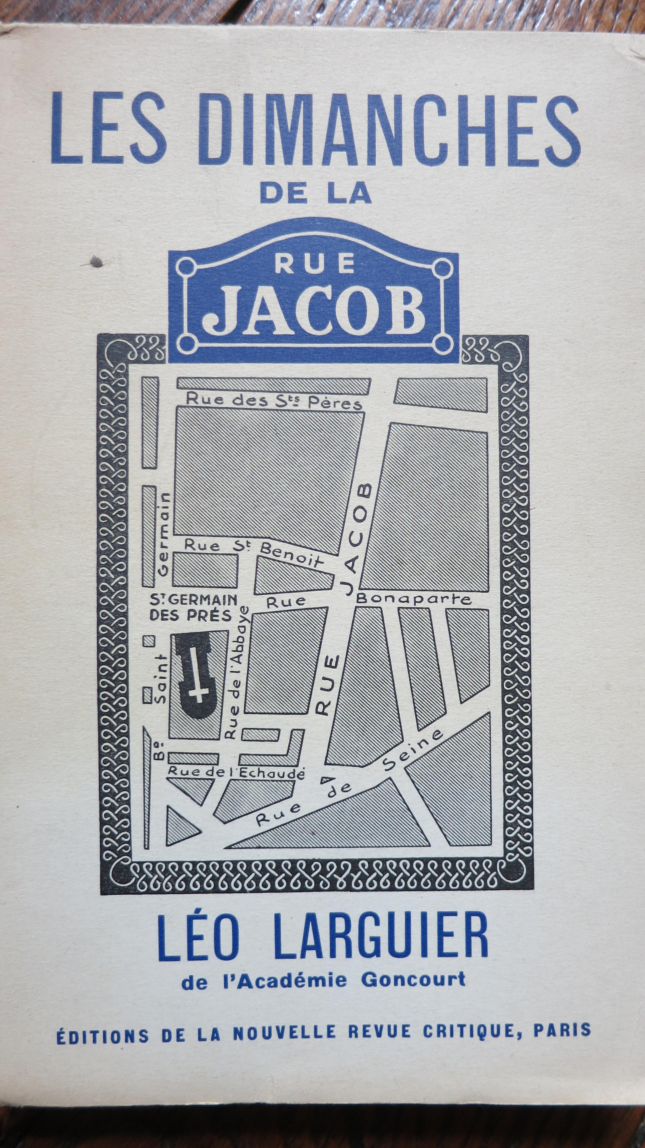 Les dimanches de la rue Jacob