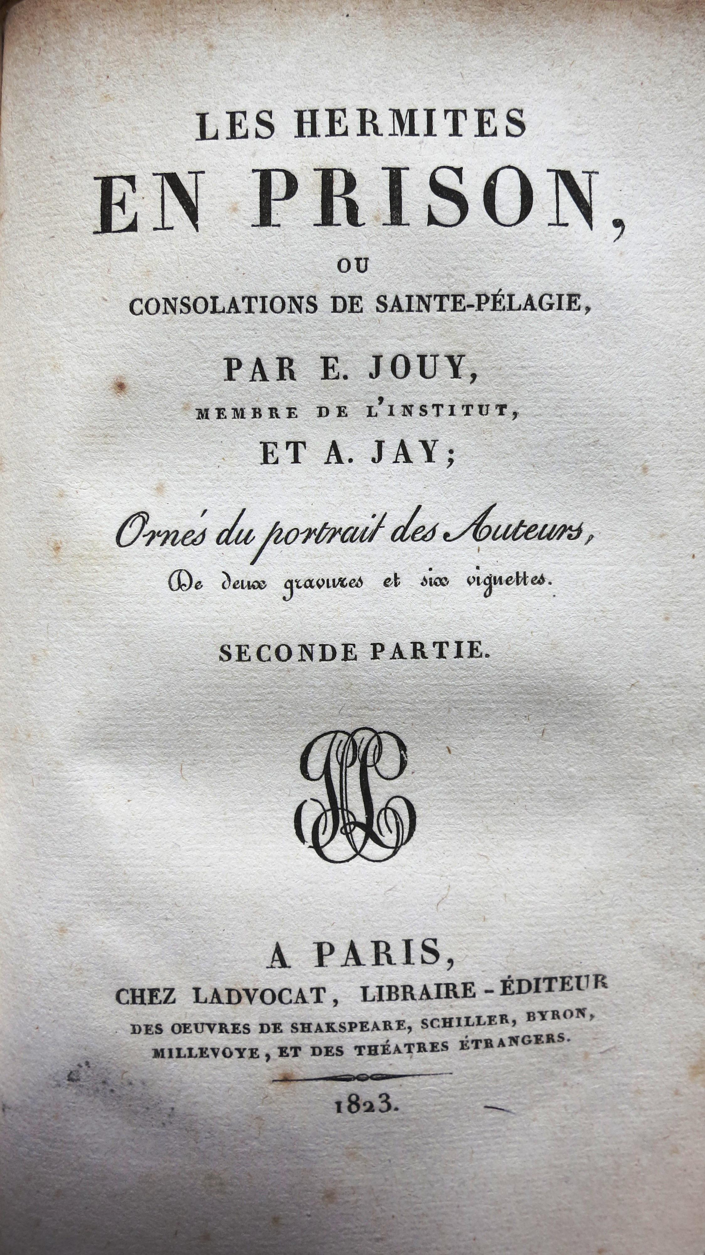 Les Hermites en prison ou consolation de Sainte-Pélagie