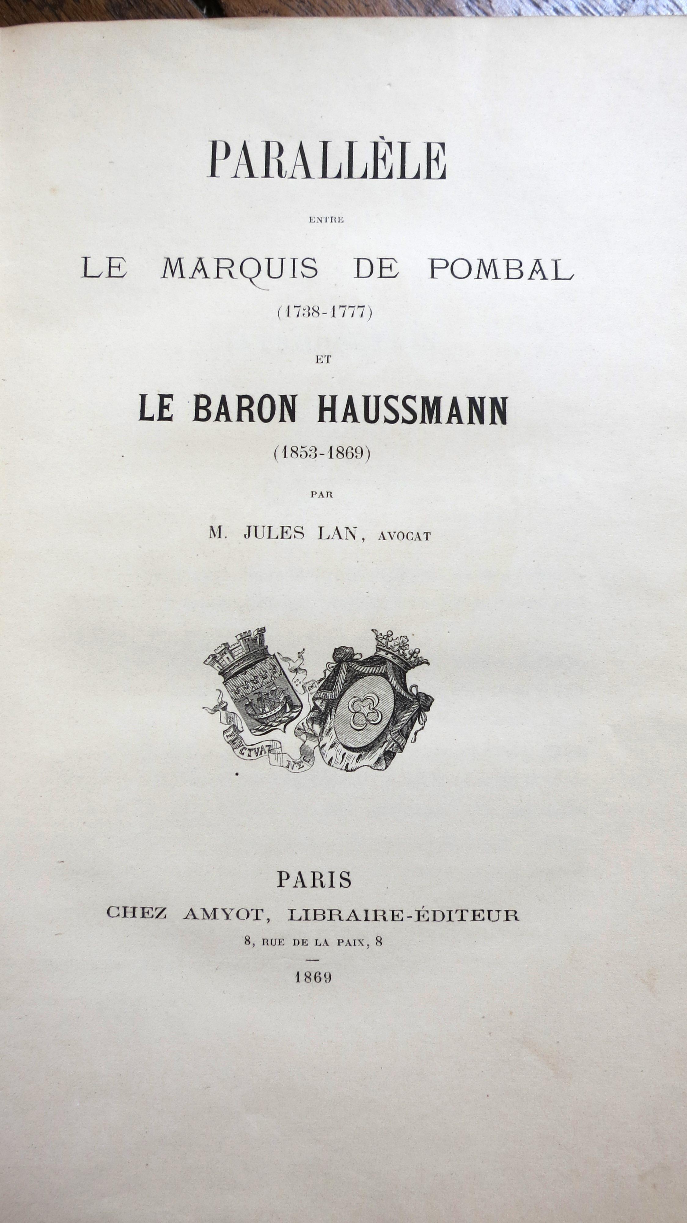 Parallèle entre le marquis de Pombal et le baron Haussmann