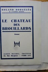 Le château des brouillards  Exemplaire sur Hollande.