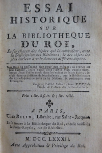 Essai historique sur la bibliothèque du Roi