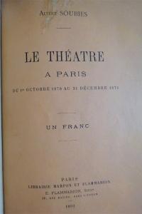 Dix mois à la Comédie Française