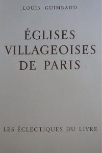 Eglises villageoises de Paris