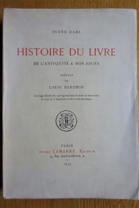 Histoire du livre de l'antiquité à nos jours