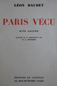 Paris vécu. Illustré par P.-J.Poitevin.