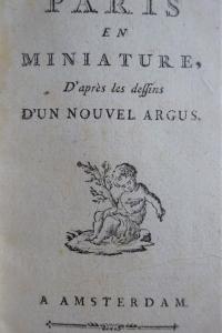 Paris en miniature,d'après les dessins d'un nouvel argus