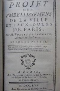 Projet des embellissemens de la ville et fauxbourgs de Paris