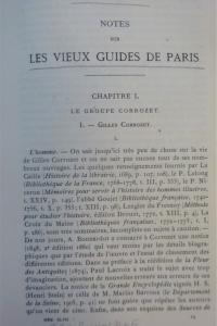 Notes sur les vieux guides de Paris