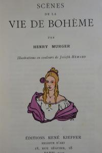 Scènes de la vie de Bohème. Illustrations de Joseph Hémard. 1921