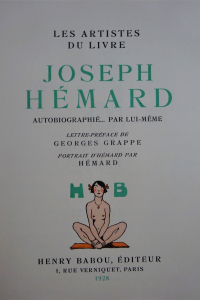 Les Artistes du livre. Joseph Hémard