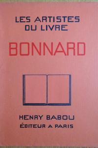 Les Artistes du livre. Pierre Bonnard