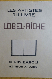 Les Artistes du livre. Lobel-Riche