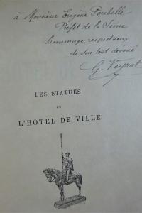 Les statues de l'Hôtel de Ville Envoi au préfet Poubelle
