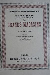 Tableau des grands Magasins
