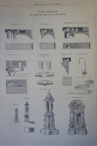 Atlas des Eaux de la Ville de Paris. Canalisations. Appareils.