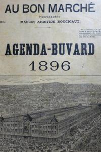 Agenda buvard du Bon Marché 1896
