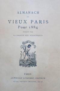 Almanach du vieux Paris pour 1884