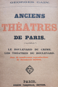 Anciens théâtres de Paris