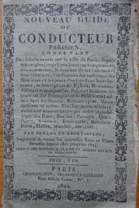 Nouveau guide ou conducteur parisien