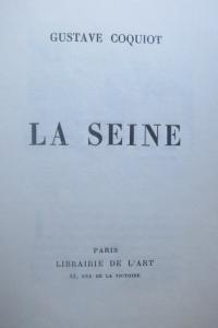 La Seine. Gustave Coquiot