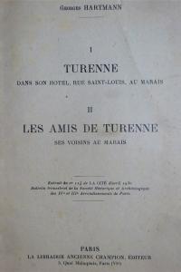 Turenne dans son hôtel, rue Saint Louis, au Marais