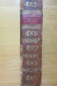 Dictionnaire topographique, historique et étymologique des rues de Paris 1816