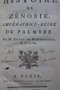 Histoire de Zénobie, Impératrice-Reine de Palmyre