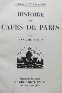 Histoire des cafés de Paris