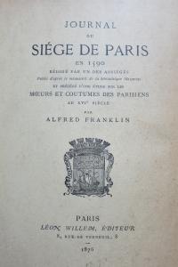 Journal du Siège de Paris en 1590