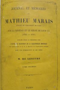 Journal et Mémoires de Mathieu Marais