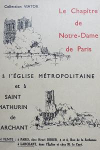 Le chapitre de Notre Dame de Paris à l'Eglise métropolitaine