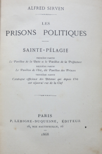 Les prisons politiques Sainte Pélagie